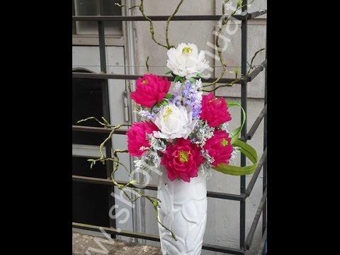 Hướng dẫn làm hoa mẫu đơn pha lê