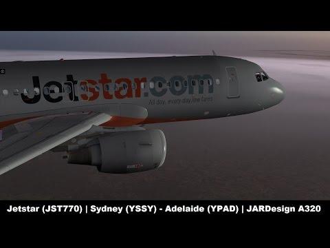 [X-Plane 10] Jetstar 770 | Sydney (YSSY) - Adelaide (YPAD) | JARDesign A320