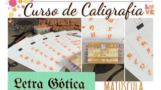 Aula de caligrafia: letra gótica maiúscula