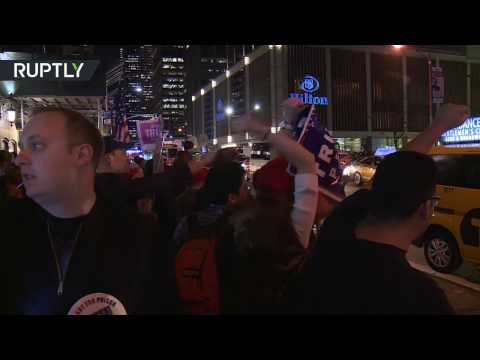 From praising Trump to burning US flag: Americans rally over election (obscene language)