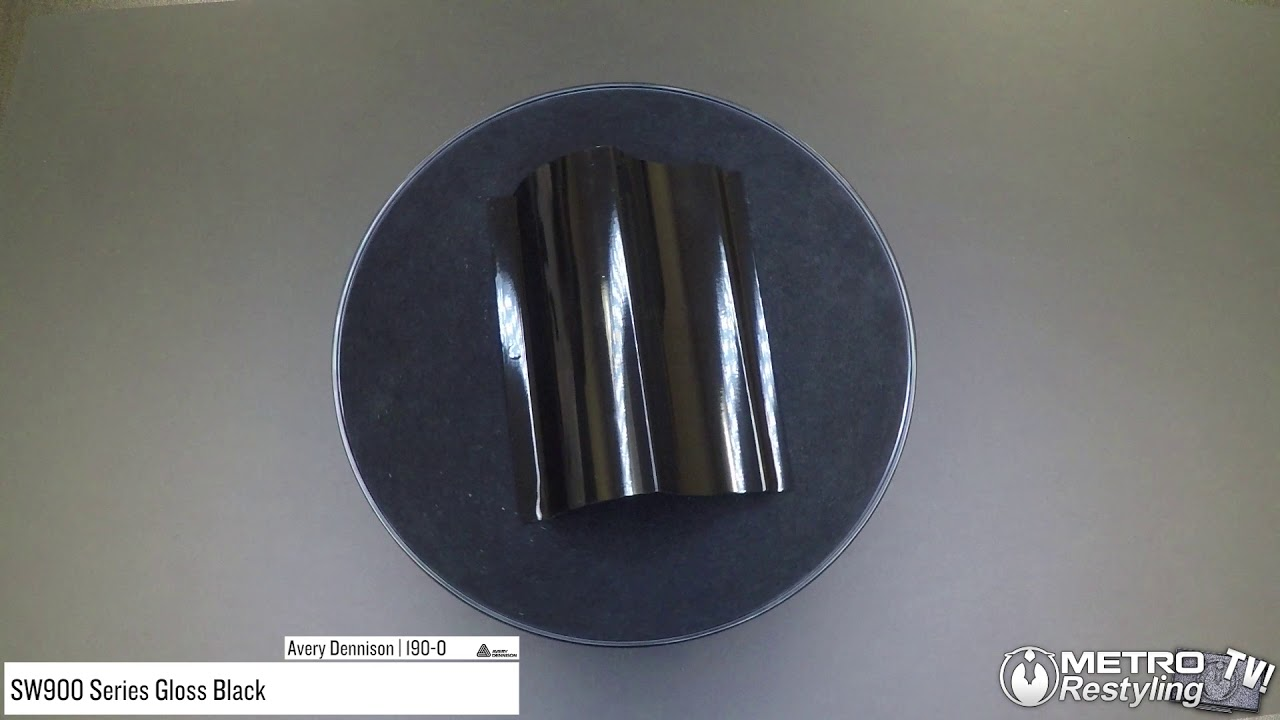 Avery Supreme GLOSS BLACK Vinyl Vehicle Car Wrap Trim Film Roll SW900-190-O
