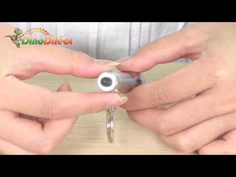 7 LED Flashlight LR44 Key Ring - dinodirect