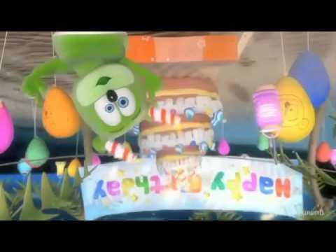 Gummibär UPSIDE DOWN Happy Birthday Gummy Bear Song