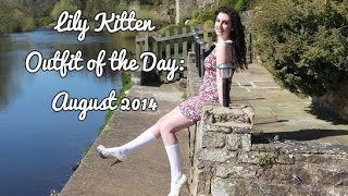 Outfit of the Day Video: Floral Shift Dress and Knee High Socks | Lily Kitten | August 2014 Thumbnail