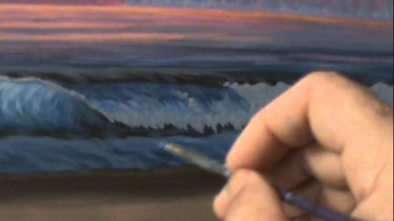 Como pintar um entardecer 14 com acr licos sobre tela youtube - Como pintar sobre tela ...