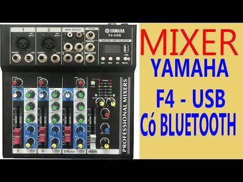 Mixer karaoke YAMAHA F4-USB – Mixer gia đình tốt nhất 2018