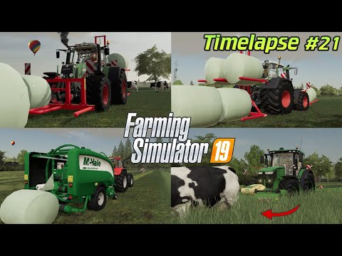 The FLOOD is coming! 🌊💦😱 A McHale baler in the COW PASTURE? 🐮🚜💨 | [FS19] - Timelapse #21 Holland