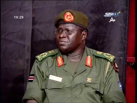 Lt. Gen. Chol Thon Baluk @ SSTV Interview in Juba, South Sudan