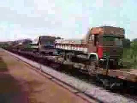 RORO from Konkan Railway-Truck on Rail