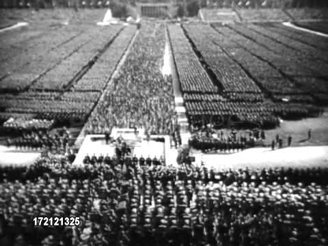 nazi party gathering nazi party gathering crowd in the
