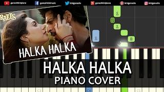 Halka Halka Raees Shah Rukh Khan Hindi Song Piano Chord Tutorial Instrumental Karaoke By Ganesh Kini