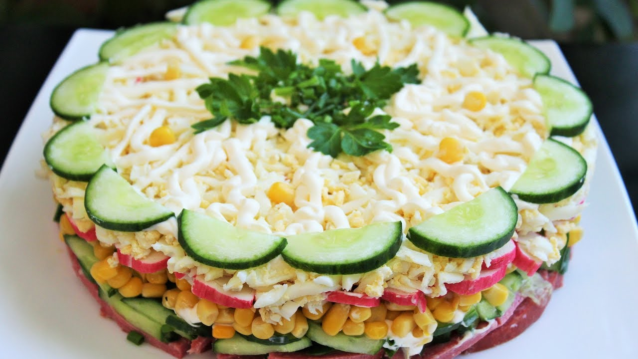 Вкусный салат не слоеный