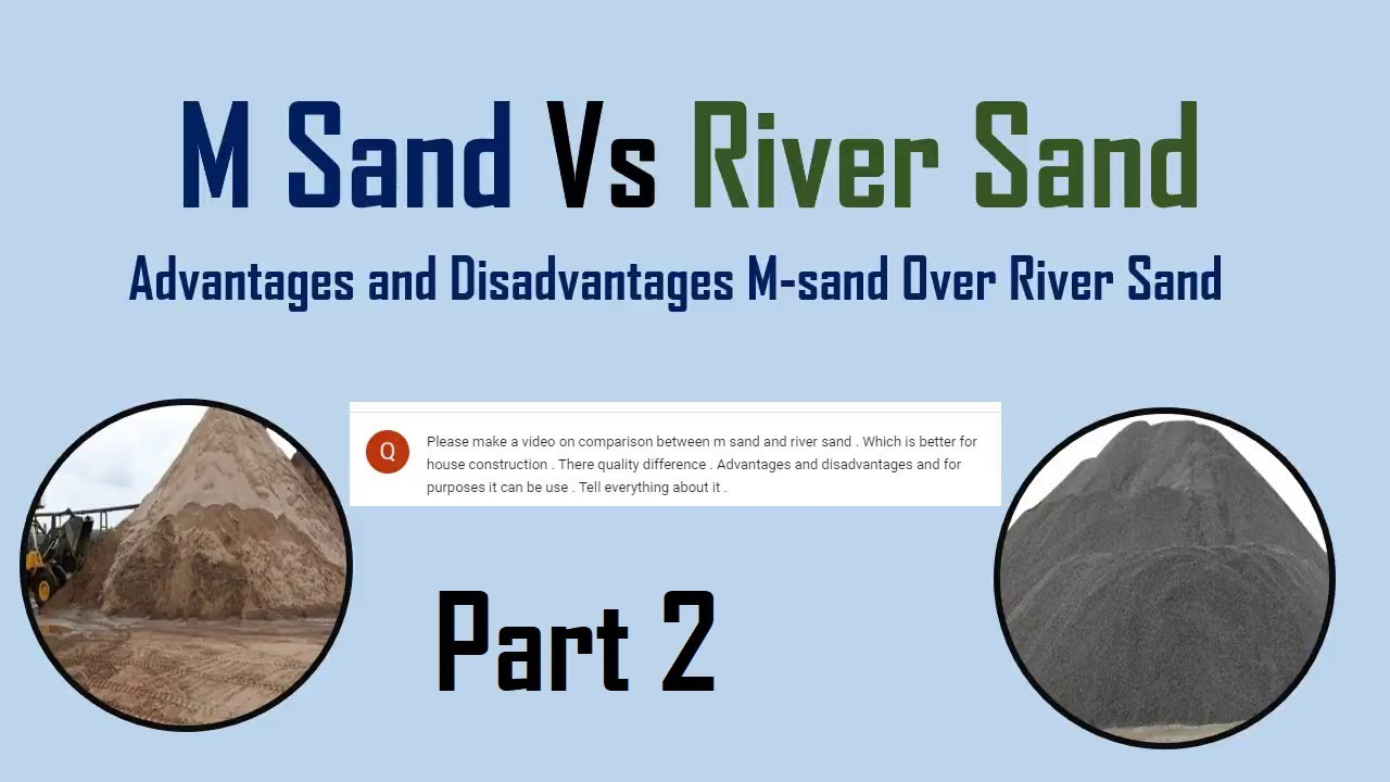 M Sand Vs River Sand || Advantages and Disadvantages of M-sand Over River  Sand #Part2