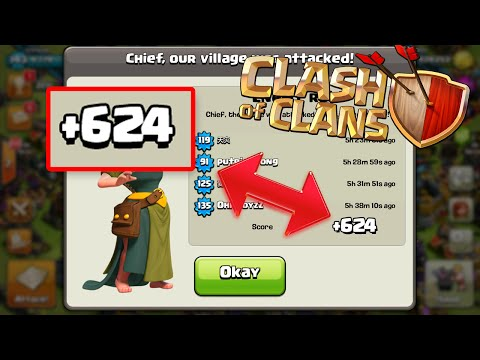 Clash of Clans | +624 TROPHIES OVER NIGHT! - Incredible Trophies GAINED with Defensive REPLAYS!