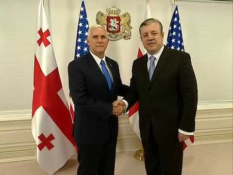 Vice President of USA met with Prime Minister of Georgia