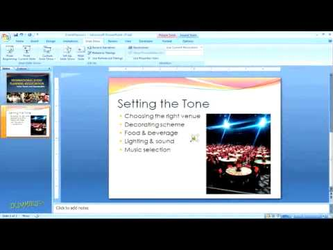 How to Insert a Sound into a PowerPoint Presentation For Dummies