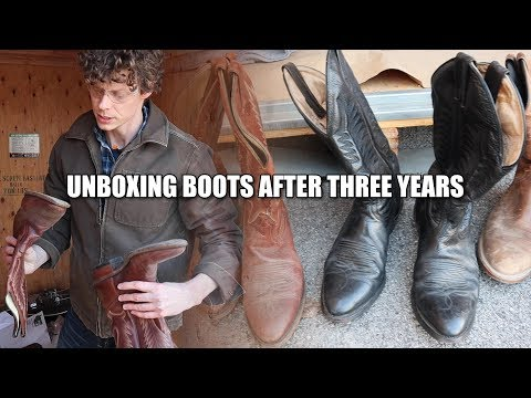 Levi Unboxes His Cowboy Boots After 3 Years!