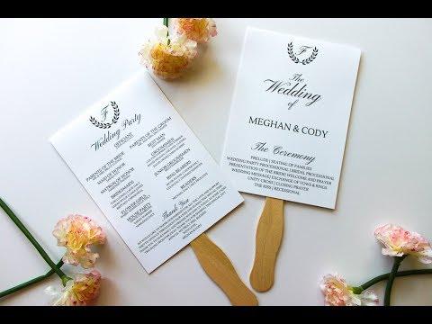 How To Assemble Wedding Program Fans