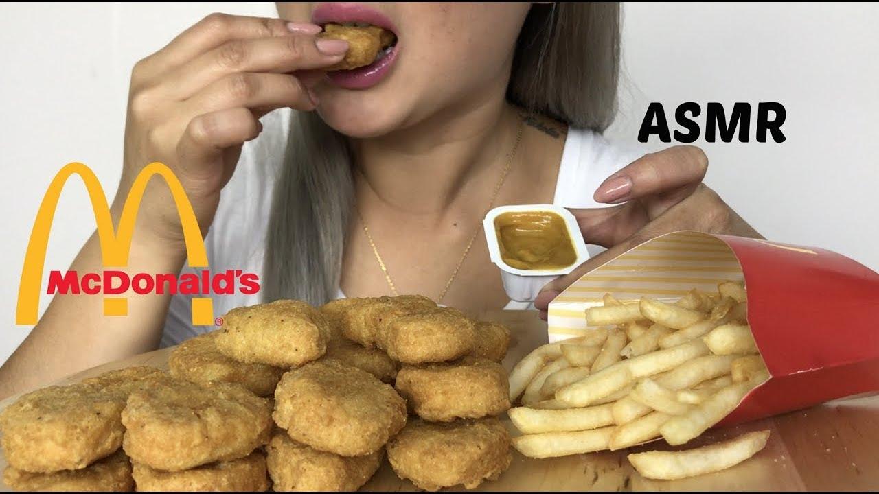 Asmr Mcdonalds Chicken Nuggets Meal No Talking Eating Sounds N E Lets Eat