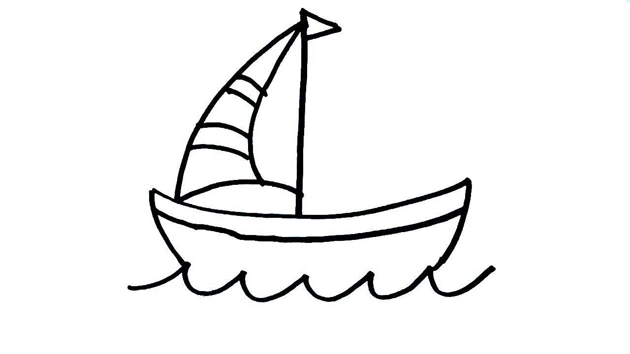 It is a picture of Sly A Boat Drawing
