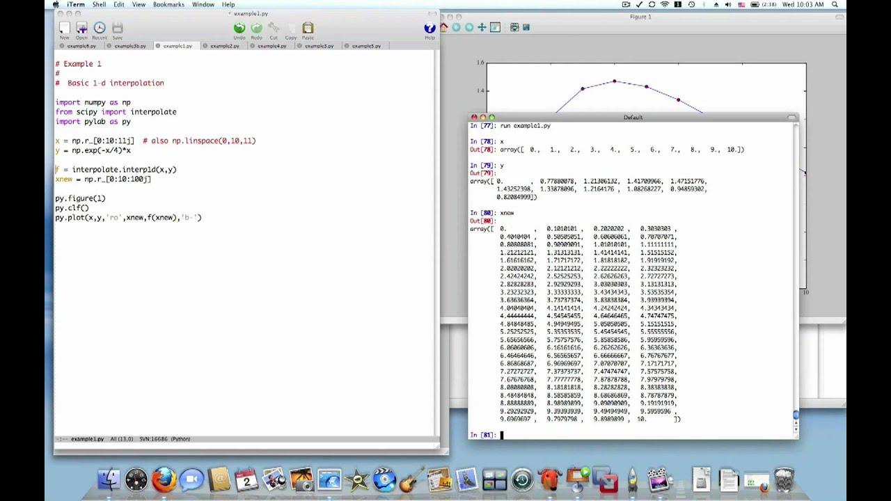 Python Interpolation 1 of 4: 1d interpolation with interp1d