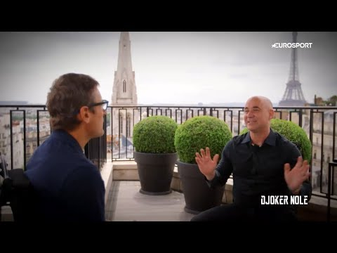Andre Agassi  with Mats Wilander  RG 2017 HD