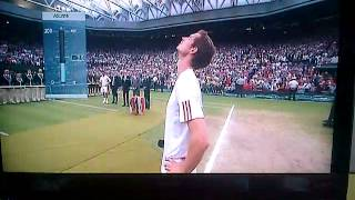 Andy Murray Emotional At Wimbeldon