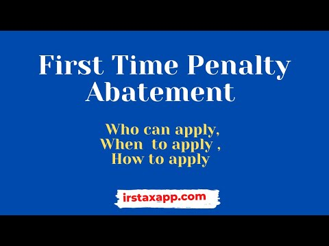 IRS First time penalty abatement : Who ,When and How ?
