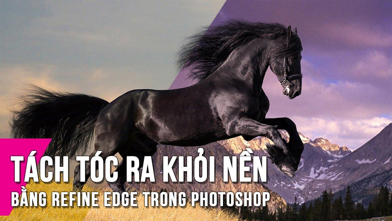 Cách tách tóc trong Photoshop bằng Refine Edge