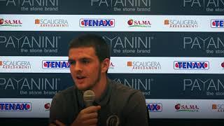Geronazzo nel post match con Mogliano   Coppa Italia 2018/19   13.10.2018