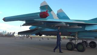 "Буксировка Су-35С, Су-34, Як-130 и Як-152. Авиасалон ""МАКС 2017 "" Жуковский"