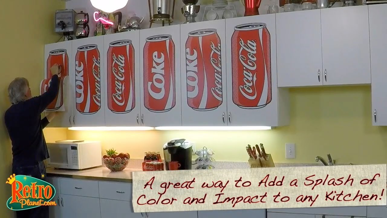 Decorating With Coca Cola Kitchen Ideas With Coke Can Wall Decals