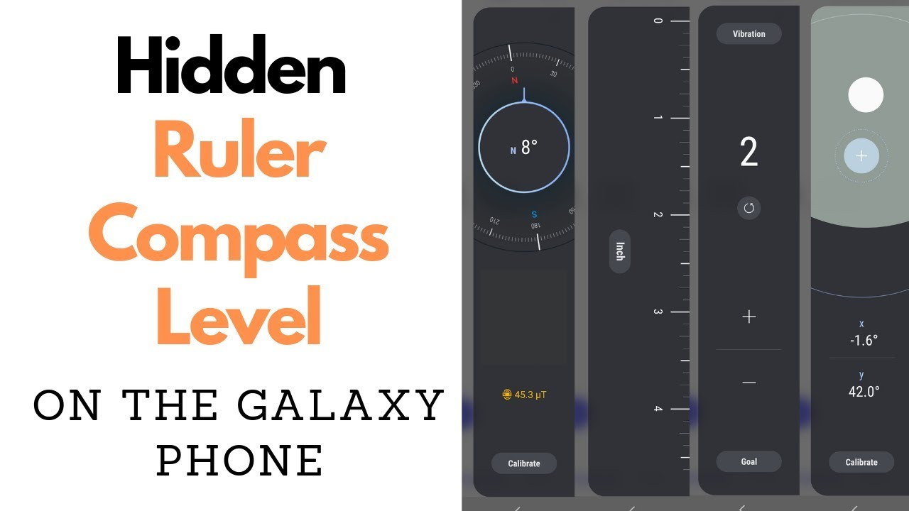 Hidden Tools On Samsung Galaxy Phone Compass Ruler Level Youtube