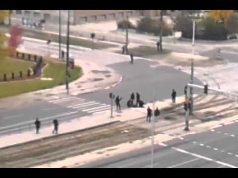 Wahhabi fire at U S  embassy in Sarajevo 28 10 2011 part2