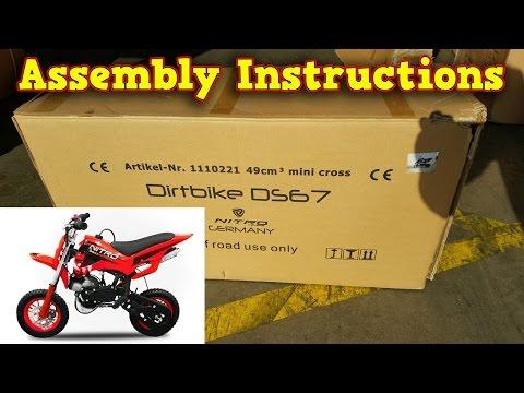 Mini Dirt Bike 50cc - Pocket Bike - Unboxing - Full Assembly Instructions