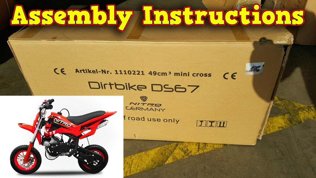 Mini Dirt Bike 50cc Pocket Unboxing Full Assembly With Pit Wiring Harness Diagram Further Instructions