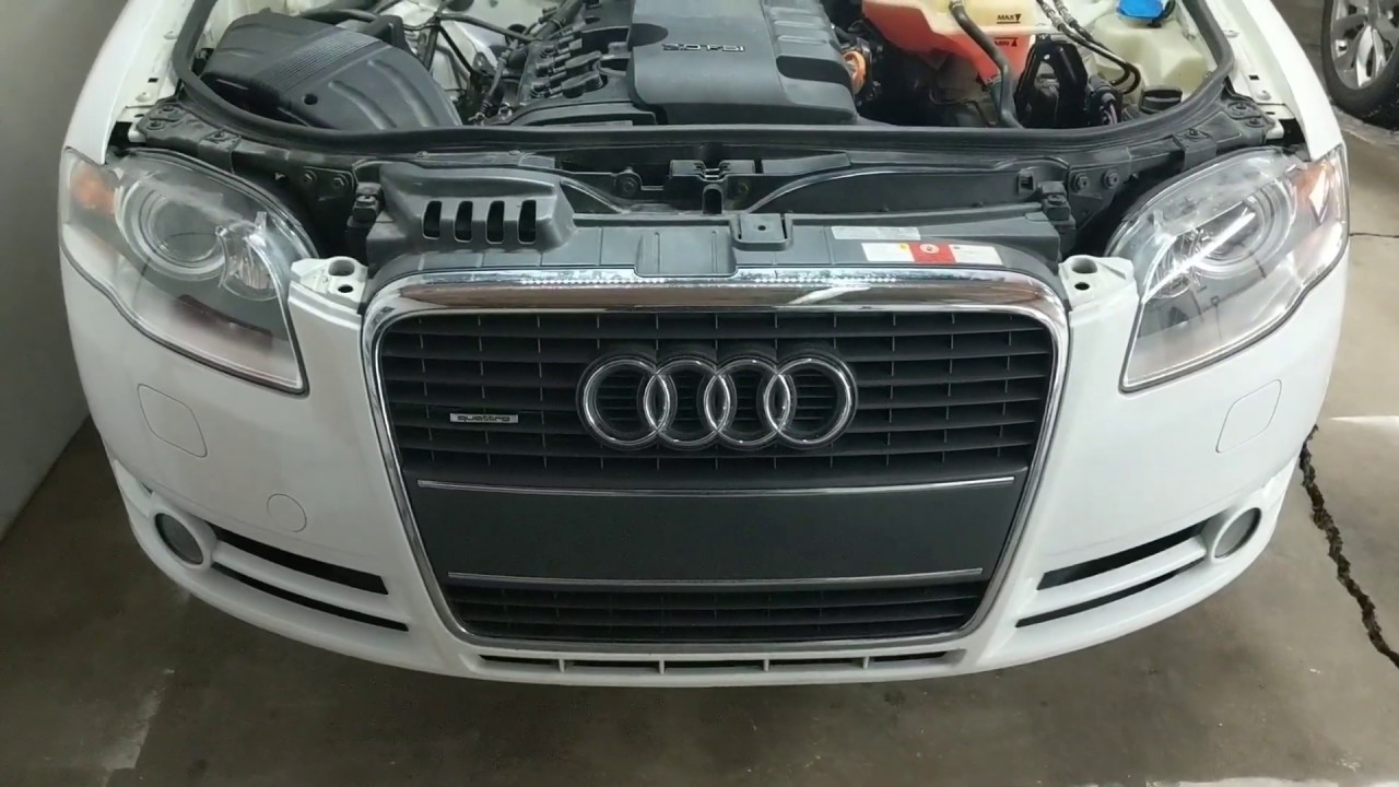 Front Bumper Cover And Grille Removal Diy Audi A4 B7 How Tos Youtube