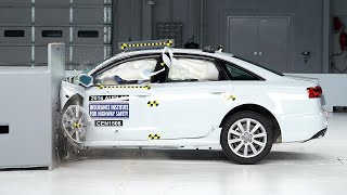 2016 Audi A6 driver-side small overlap IIHS crash test
