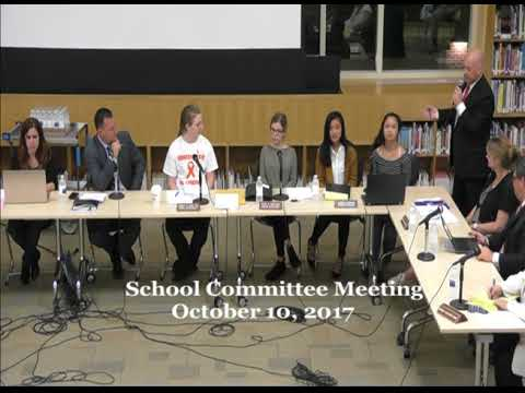 Peabody School Committee Meeting: October 10, 2017