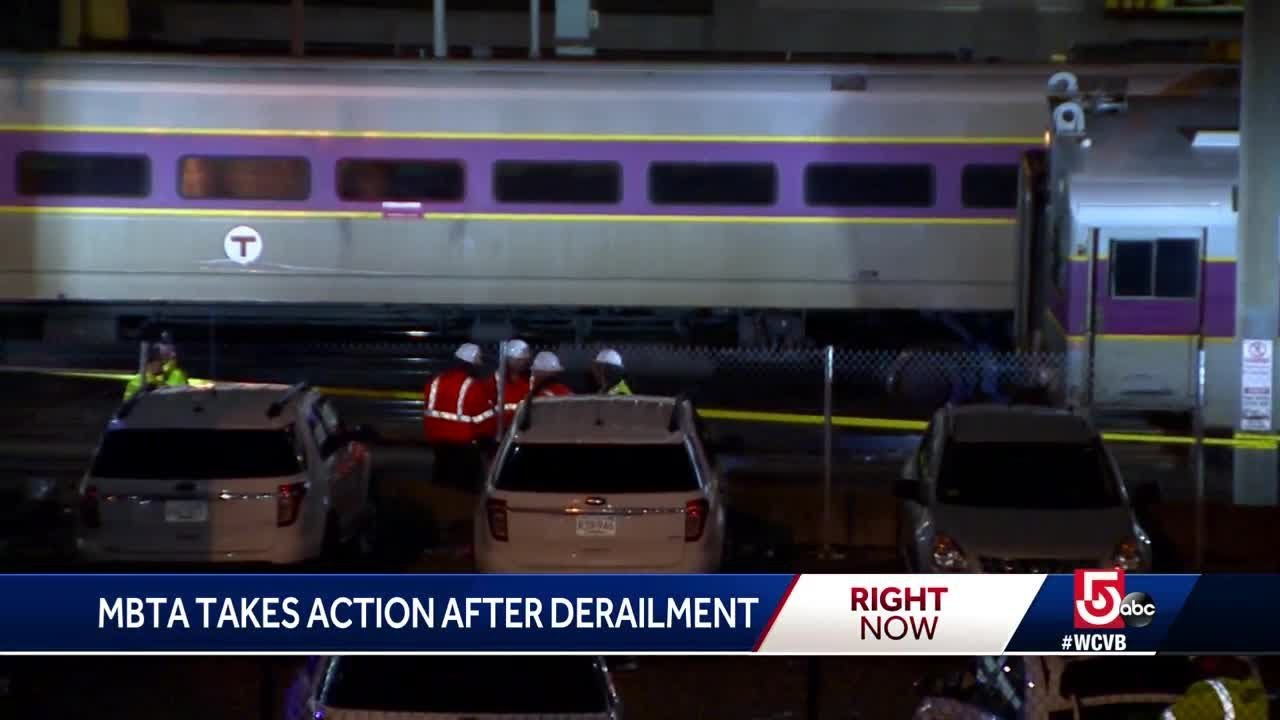 MBTA takes action after train derailment