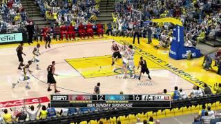 NBA 2K14 PC MOD 2016/2017 Updated Rosters │Blazers vs Warriors HD Gameplay