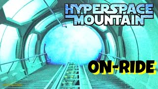 hyperspace mountain with stars and safety video on ride front seat hd pov disneyland california