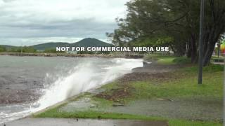 Cyclone Debbie High Tide And Strengthening Winds