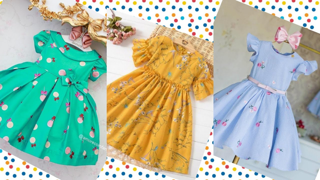 Comfertable Baby Girl Frock Designs For Summer/Beautiful Kid's Outfits 3