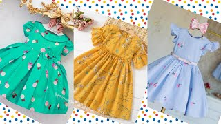Comfertable Baby Girl Frock Designs For Summer/Beautiful Kid's Outfits