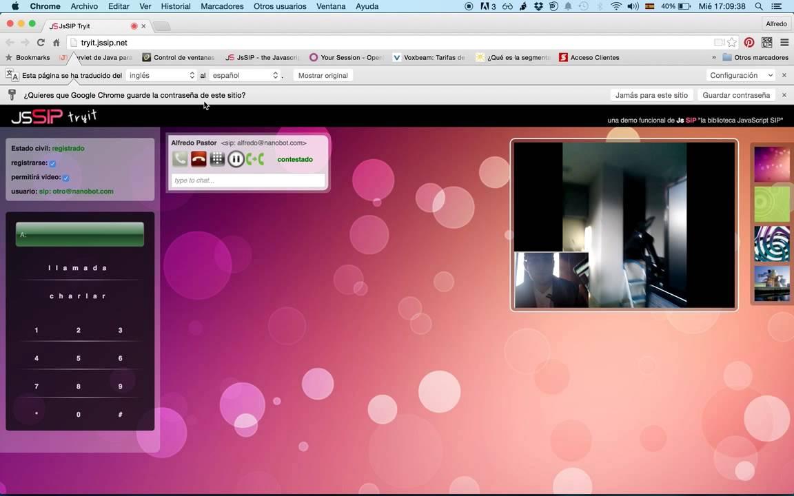 JsSIP WebRTC freeSWITCH視訊會議