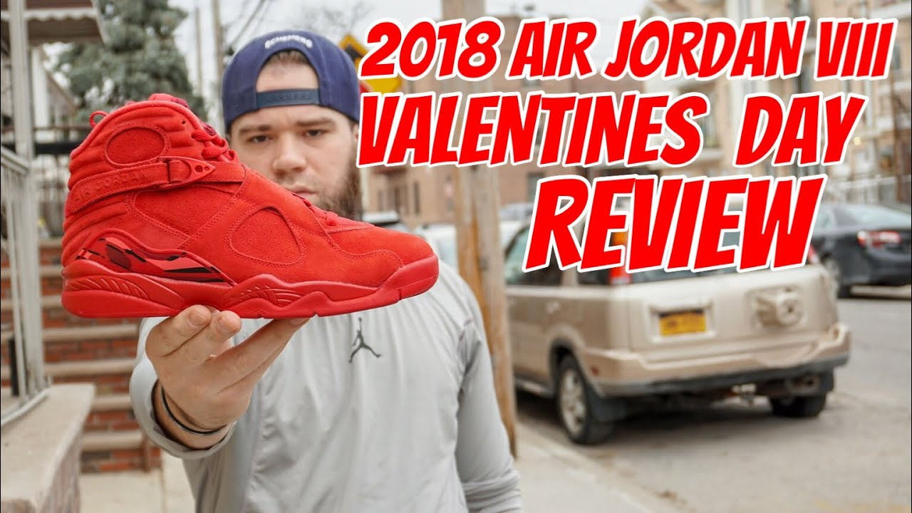 6a548daf275fd3 A EARLY LOOK AT THE 2018 AIR JORDAN VIII VALENTINES DAY REVIEW - YouTube