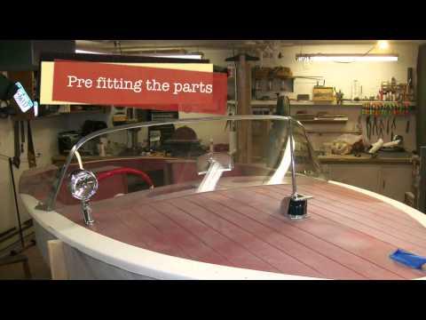 Vintage fiberglass boat restoration