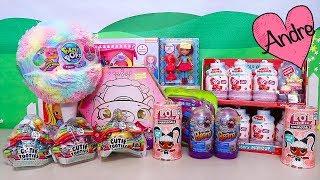 Andre abriendo y jugando con juguetes en rebaja!!! Poopsie Slime muñecas L.O.L. Surprise, qué más???