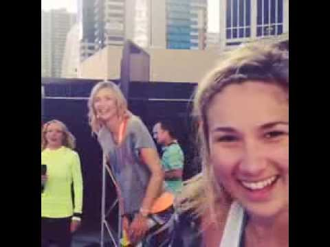 Maria Sharapova Performing Her Nike Women App Workout In Melbourne 2017 You